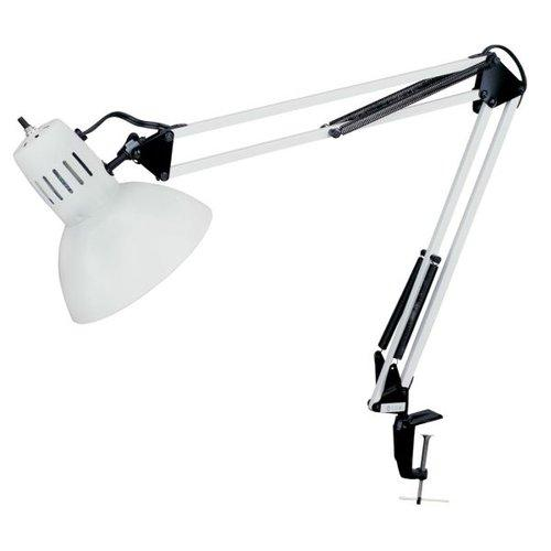 Dainolite DXL334-X-WH Specialty Lamps Lamps Clamp-On Lamps ;White with Black Accents by Dainolite