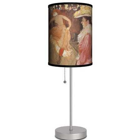Ebern Designs Paniagua Ball At The Cabaret By ToulouseLautrec - Cabaret table lamps