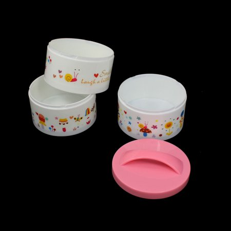Home Kitchen Plastic Three Layers Round Shape Food Storage Lunch Box Red - image 1 of 2