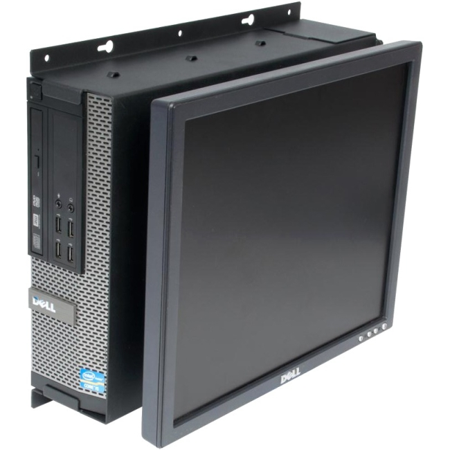 Rack Solutions Dell Optiplex 790 SFF Wall Mount - Fixed Monitor