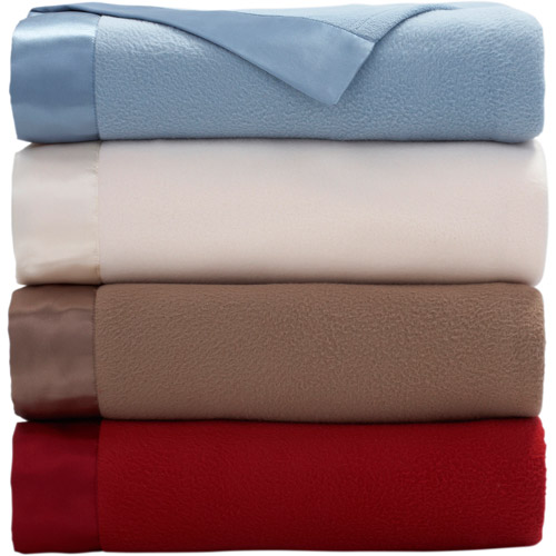 Mainstays Fleece Blanket with Satin Trim