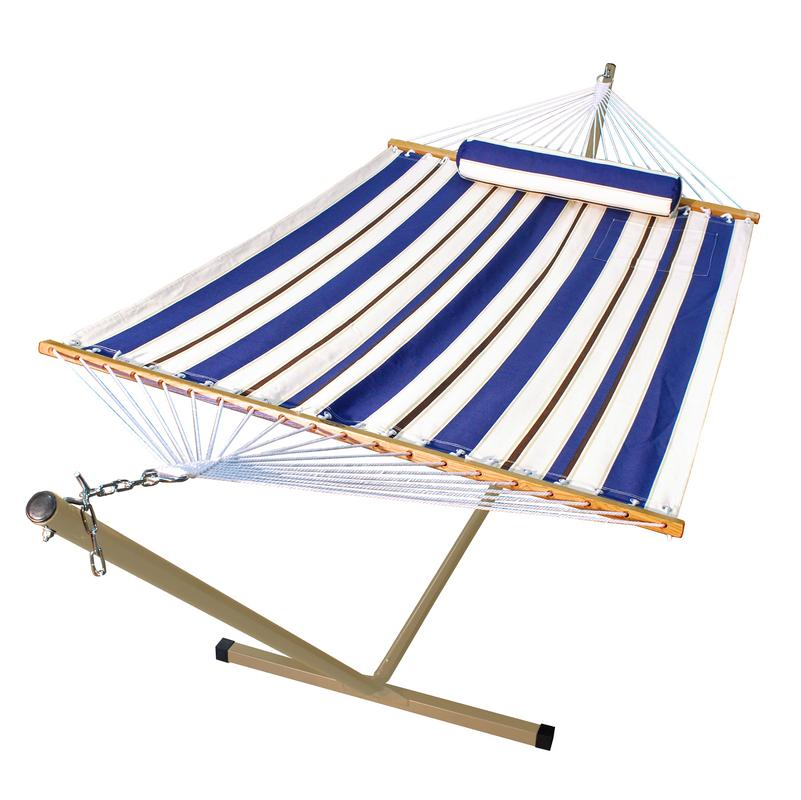 11' Fabric Hammock, Pillow, and Stand Combination