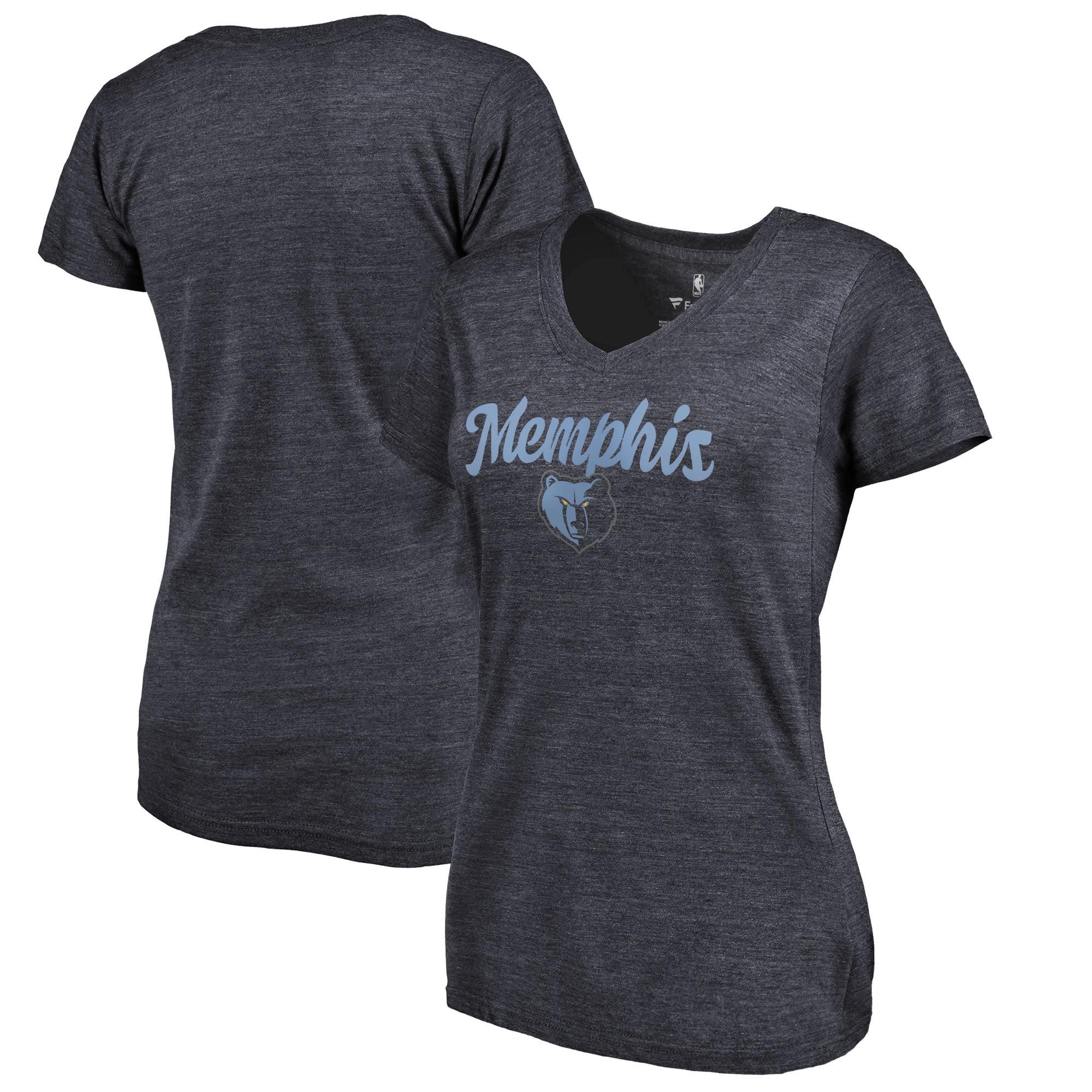 Memphis Grizzlies Women's Freehand Tri-Blend V-Neck T-Shirt - Navy