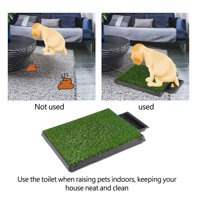 Anauto Dog Puppy Cat Pet Potty Mat Grass Pad with Tray House Indoor Restroom Toilet Pee Training Tool,Pet Potty Mat, Potty Mat with Tray