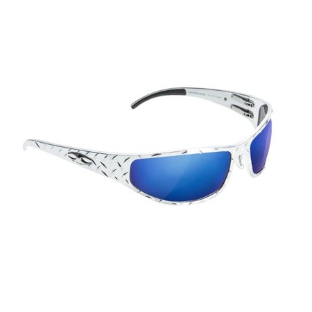 ICICLES Baggers Diamond Blue Mirror Lens Sunglasses with Chrome Frame](Breast Cancer Sunglasses)