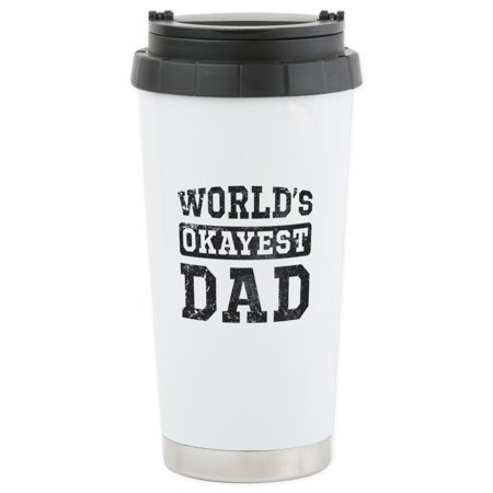 CafePress - Vintage World's Okayest Dad Stainless Steel Travel - Stainless Steel Travel Mug, Insulated 16 oz. Coffee Tumbler - Halloween Vintage Tumblr