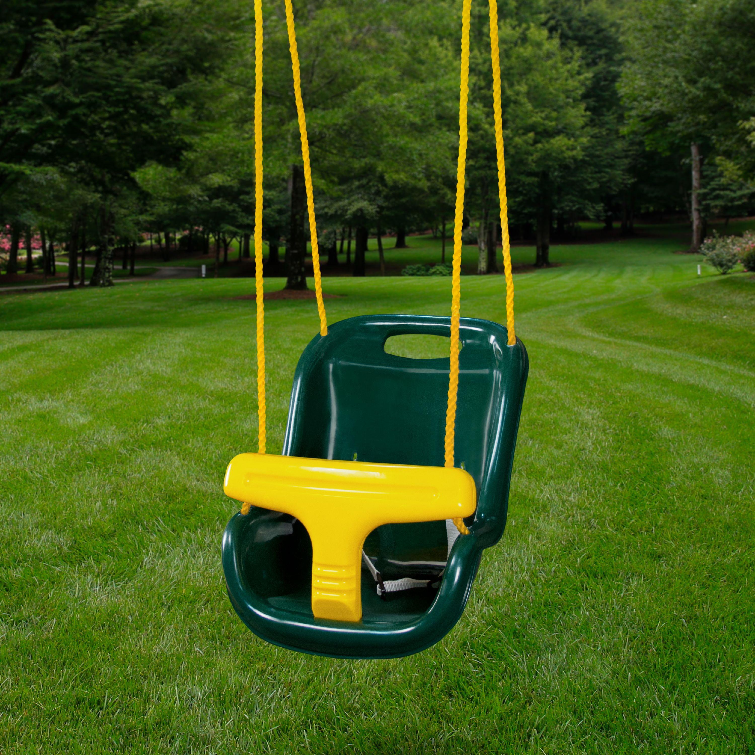 Gorilla Playsets Safe and Sturdy High Back Infant Swing, Green