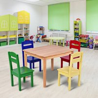 edd3839dce6 Product Image Harriet Bee Dickie Kids 5 Piece Writing Table and Chair Set