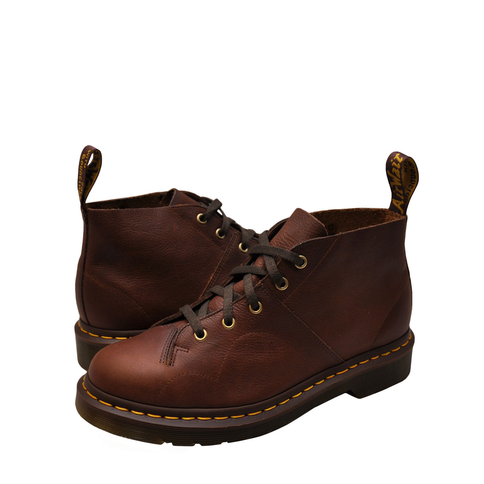 Dr. Martens Church Men's Shoes Leather Monkey Boots 22230220 Tan by Dr. Martens