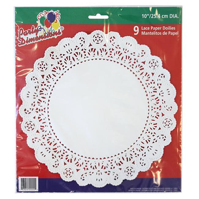 Party Dimensions 70841 10 inch Lace Doily White - 432 Per Case