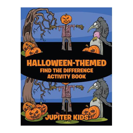 Halloween-Themed Find the Difference Activity Book for $<!---->