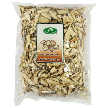 Dried Sliced Shiitake Mushrooms 1 lb Bag