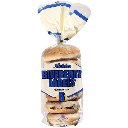 Nickles Blueberry Bagels, 6 ct, 18 oz