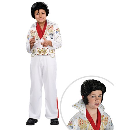 Boy's Deluxe Elvis Costume and Elvis Wig for - Elvis Wigs For Kids
