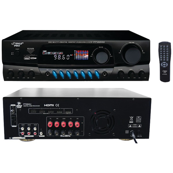 PYLE PRO PT560AU 300-Watt Digital USB Stereo Receiver by Pyle