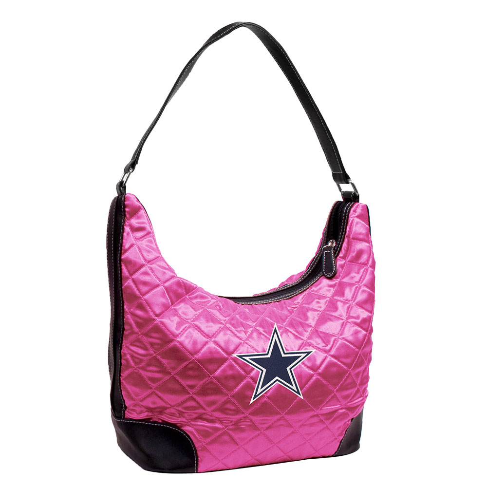 NFL - Dallas Cowboys Pink Quilted Hobo Purse