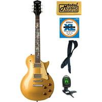 Oscar Schmidt OE20 Electric Guitar, Serpentine Gold Bundle, OE20SERPENTG PACK