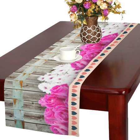 MYPOP Best Mom Ever Kitchen Dining Table Runner 16x72 inch For Dinner Parties, Events,