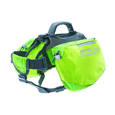 Outward Hound Kyjen  22010 Quick Release Backpack Saddlebag Style Dog Backpack, Medium, Green ()