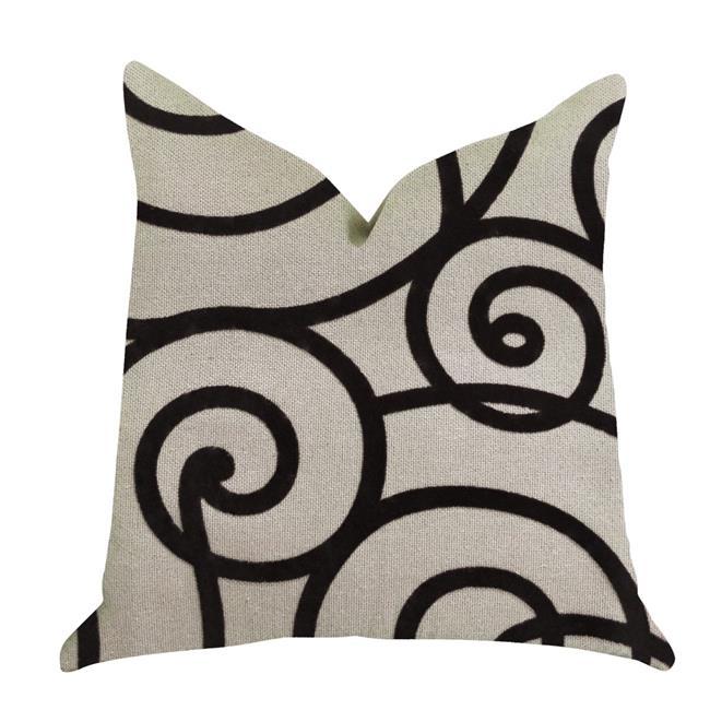 Moda Capella Black & White Luxury Throw Pillow, 20 x 36 in. King - image 1 de 1