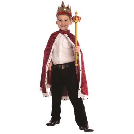 King Robe and Crown Red or Navy Blue Boys Set Blue Cream Clothing