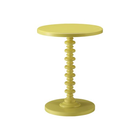 Urban Designs Kostka Wooden Accent Side Table - Yellow Yellow Side Table
