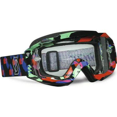 Scott Hustle MX Offroad Goggles Plasma Black/Clear Lens