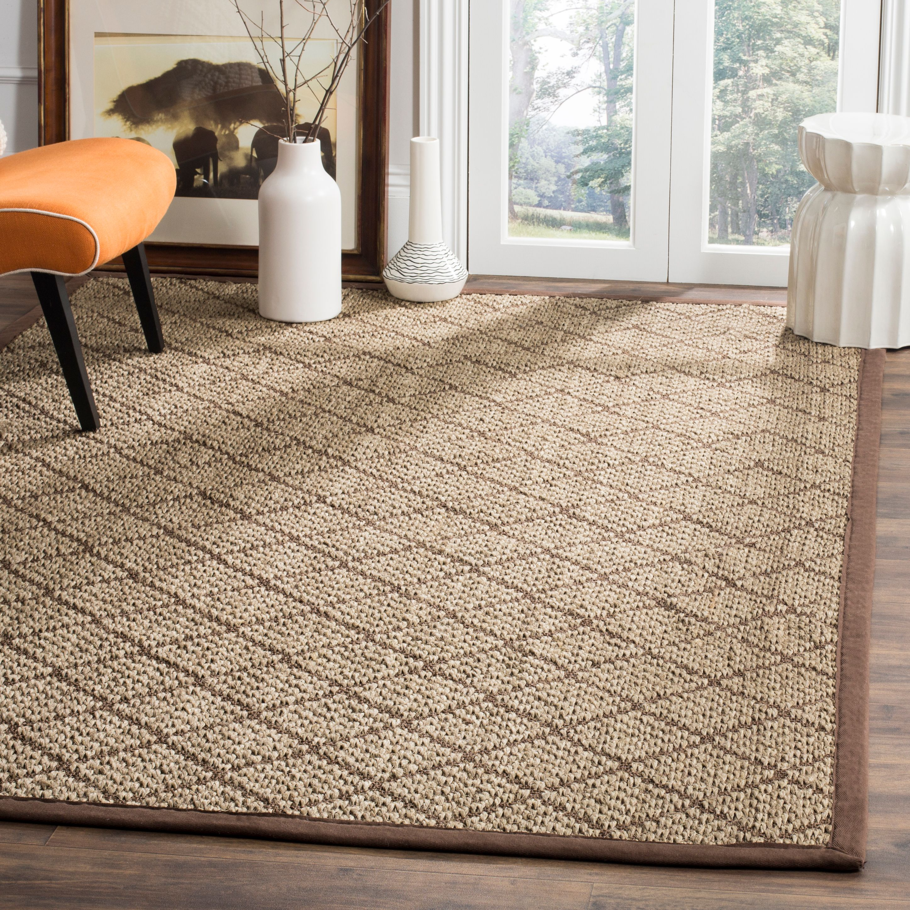 Safavieh Natural Fiber Syeda Geometric Bordered Area Rug or Runner