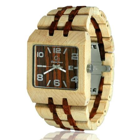Wood wristwatch-Wooden watch-Wood craft- Wood art-Fashion watch-Wooden wristwatches for men - Anniversary gift - Men's watch Style Omega II Series 2