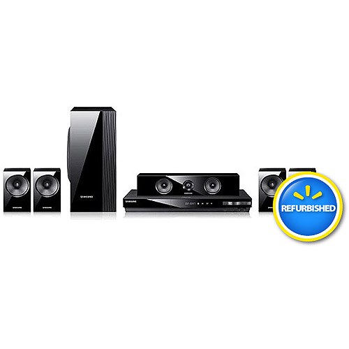 SAMSUNG HT-EM54C/ZA 1000W 5.1 CH Home Theater System with 3D Smart Blu-ray Player, Refurbished