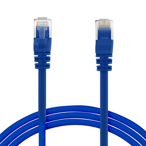 GearIt Cat5e Cat 5 Ethernet Patch Cable 3 Feet - Snagless RJ45 Computer LAN Network Cord, Blue [Lifetime Warranty]