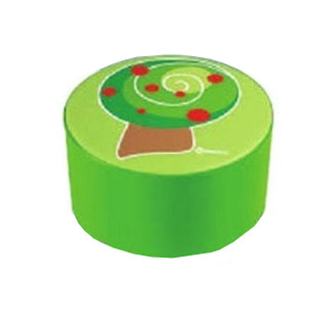 Wesco 33783 14 inch L x 8 inch H x 14 inch W The Apple Tree Decorative Pouffe