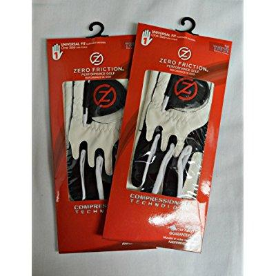 2 zero friction youth golf gloves, right hand, one size, white