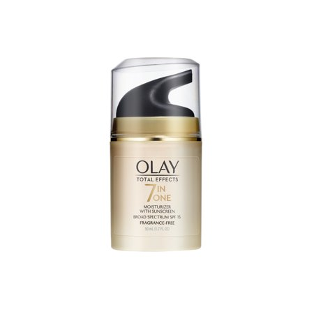 Olay Total Effects Anti-Aging Face Moisturizer with SPF 15, Fragrance-Free 1.7 fl (Olay Total Effects 7 In 1 Night Cream)
