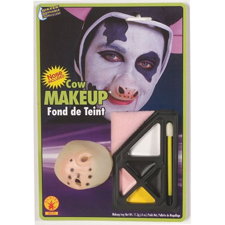 Cow Makeup Kit with Nose Halloween Costume Accessories (Easy Halloween Makeup To Do At Home)