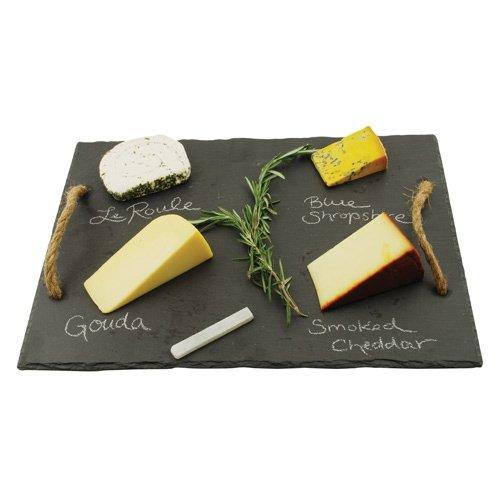 Rustic Cheese Cutting Board, Square Farmhouse Slate Serving Elegant Cheese Board