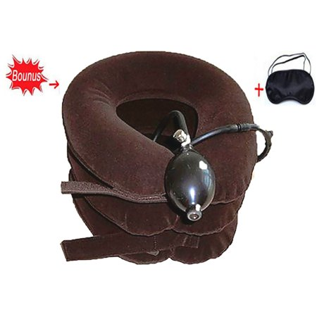 Inflatable Neck Traction Cervical Neck Traction Device, Adjustable Neck Pillow and Brace for Neck Head & Shoulder Pain Relief Plus Free Bonus Sleep