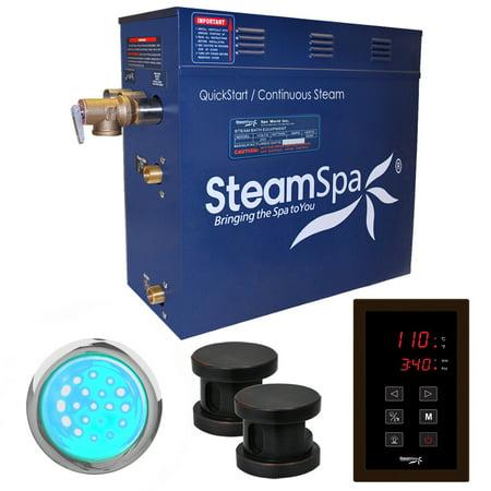 Steamspa Int1050 Indulgence 10.5 Kw Quickstart Acu-Steam Bath Generator Package - Bronze