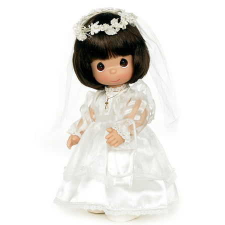 Precious Moments Dolls by The Doll Maker, Linda Rick, My First Communion, Brunette, 12 inch doll