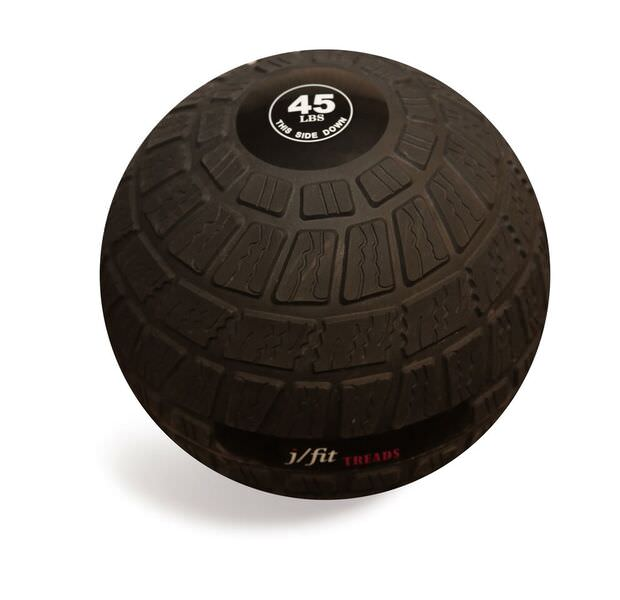 j/fit Dead Weight Treads Slam Ball - 45lb