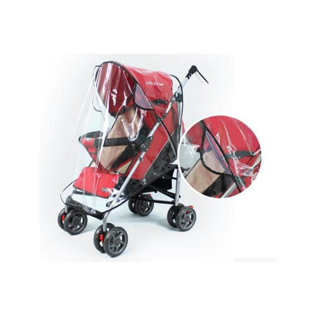 - Universal Baby Stroller Rain Cover Wind Dust Shield Waterproof For Child Jogger Pushchairs US