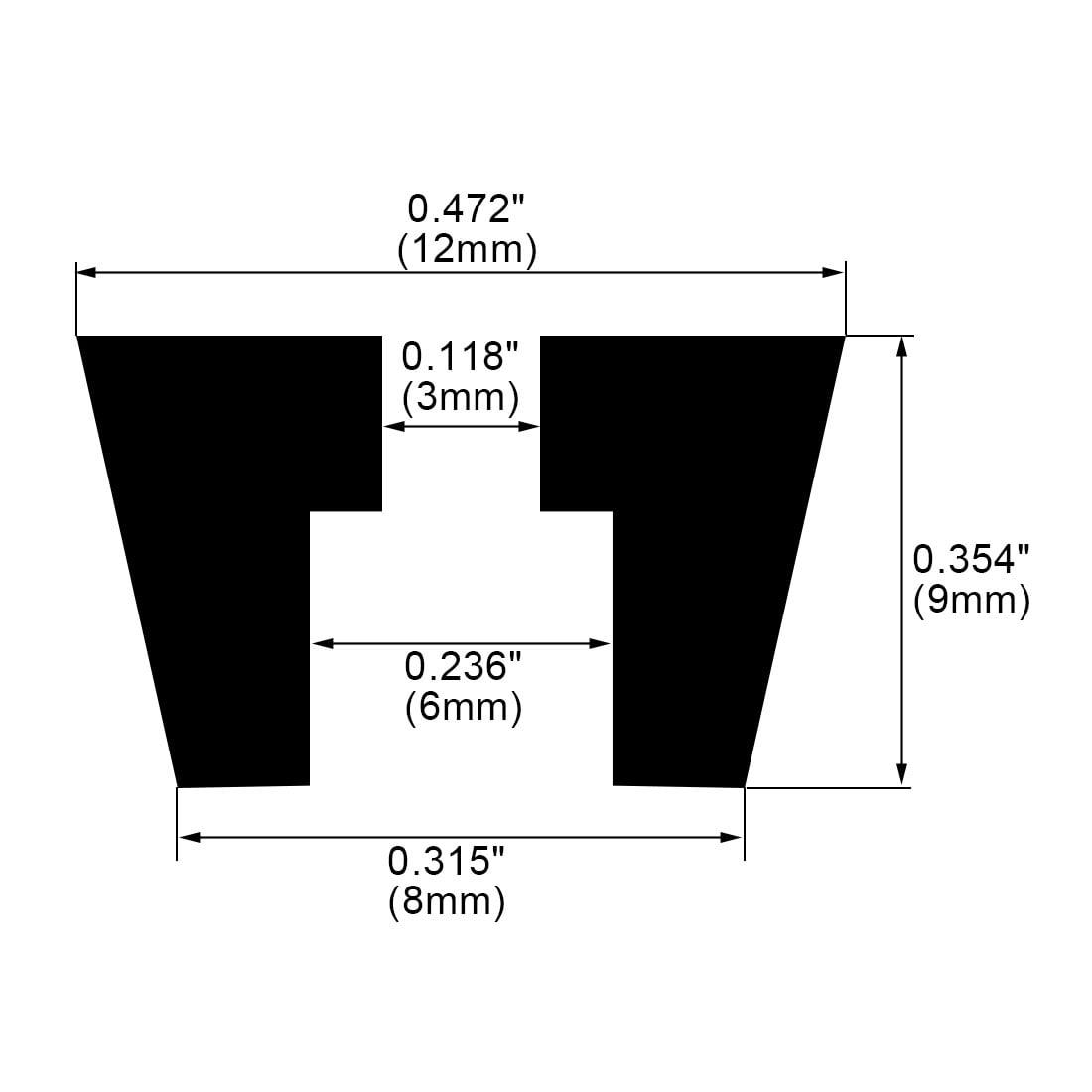 15pcs Rubber Feet Bumper Buffer Amplifier Speaker with Metal Washer, D12x8xH9mm - image 6 of 7