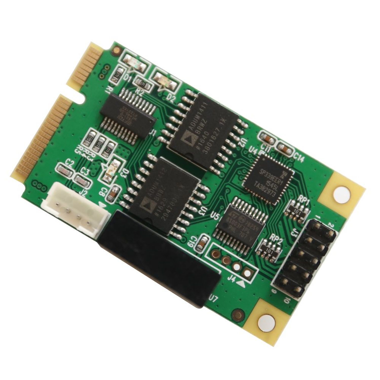 IOCrest Full Size Mini PCIe card or USB 2.0 1 Port Serial DB9 RS232 / 422 / 485 Adapter
