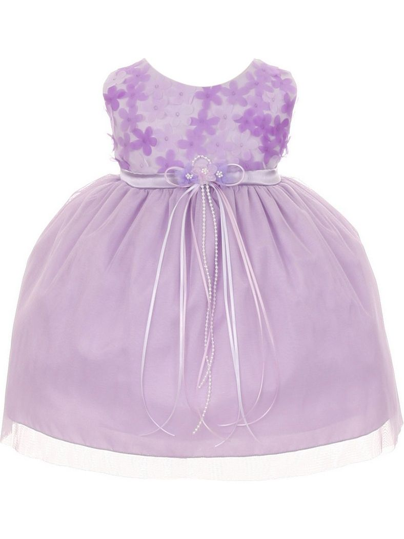 Kids Dream Baby Girls 3D Chiffon Flowers Special Occasion Dress 24M