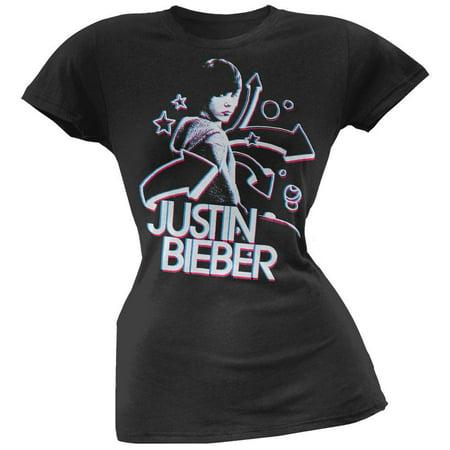 Justin Bieber - 3D Juniors T-Shirt