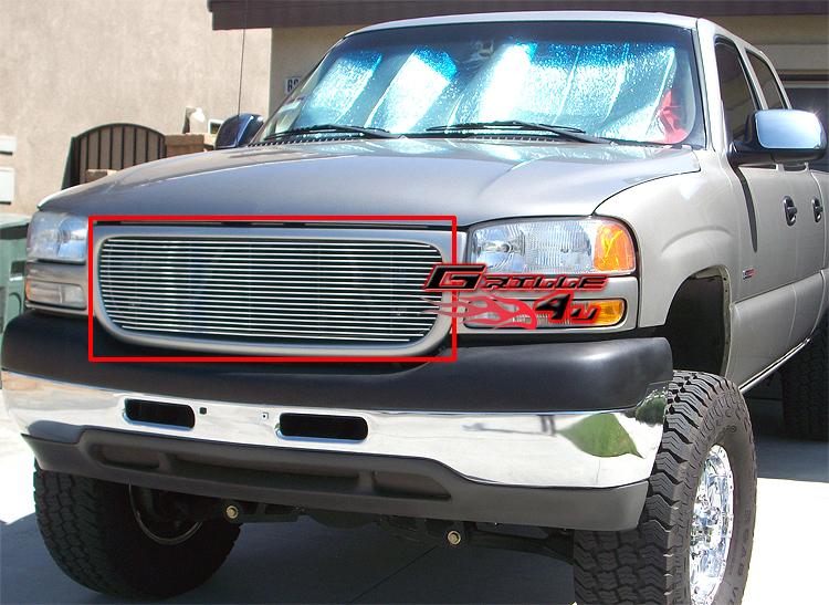 Fits 2001-2006 GMC Yukon//Yukon Denali//1999-2002 Sierra Main Upper Billet Grille