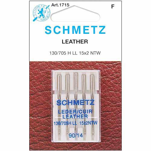Euro-Notions Leather Machine Needles, Size 14/90, 5/pkg