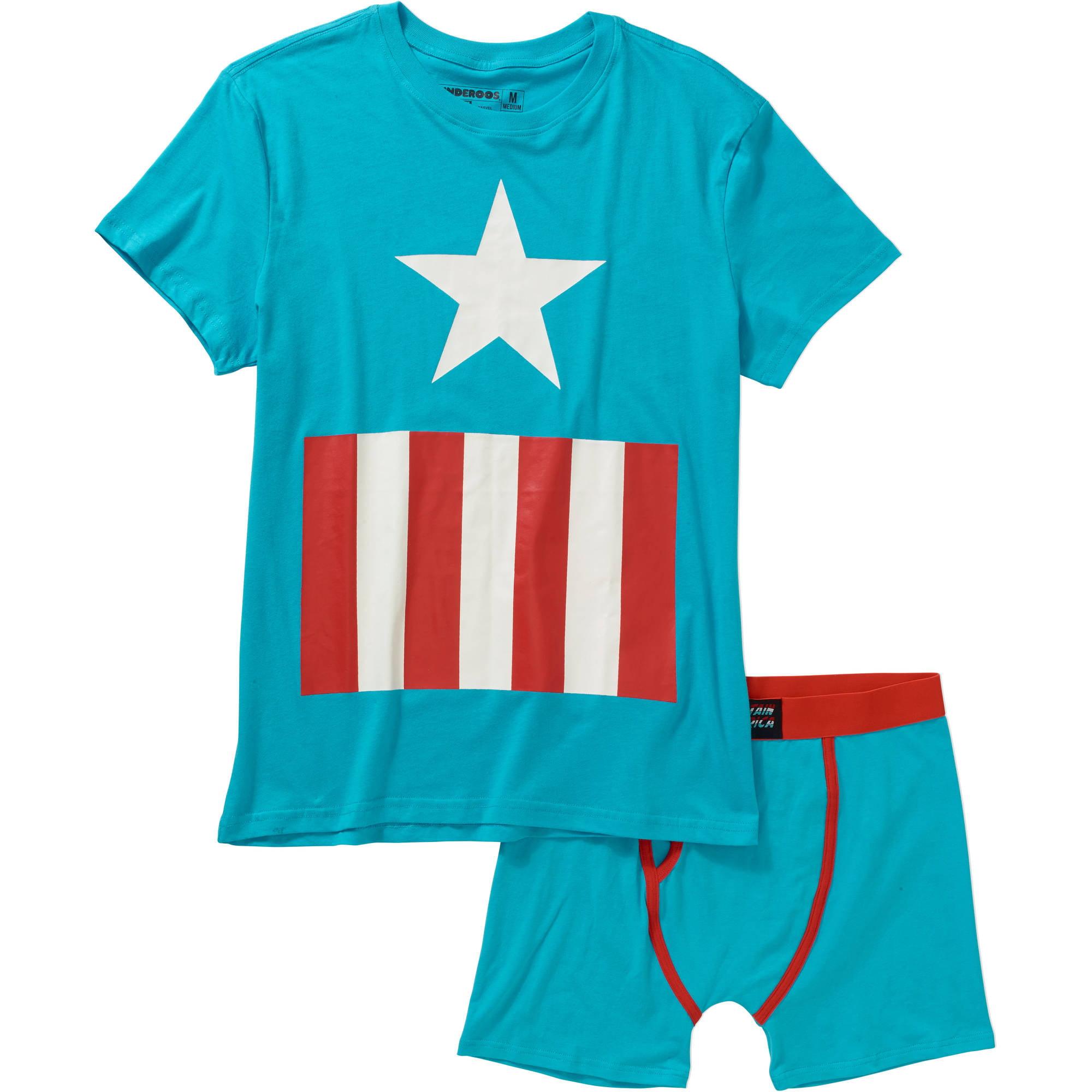 Captain America Men's Underoos Underwear Set