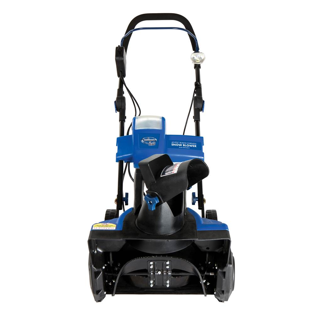18 in. Single Stage Brushless Snow Blower in Blue and Black