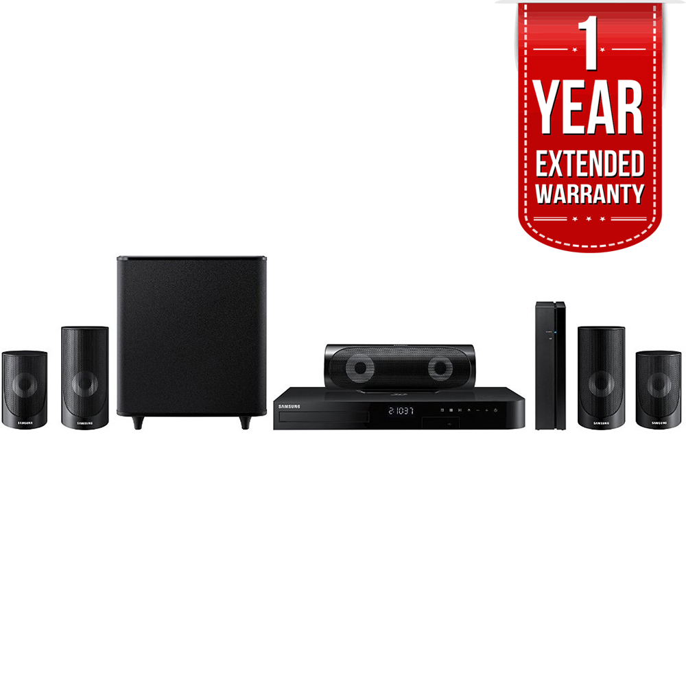 Samsung 5.1ch 1000-Watt 3D Smart Blu-ray Home Theater System w  Bluetooth (HT-J5500W) with 1 Year Extended... by Samsung